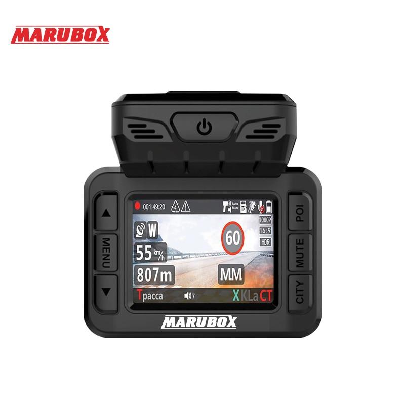 Marubox M620R car dvr radar detector gps 3 in 1 HD1296P 170 Degree Angle Russian Language
