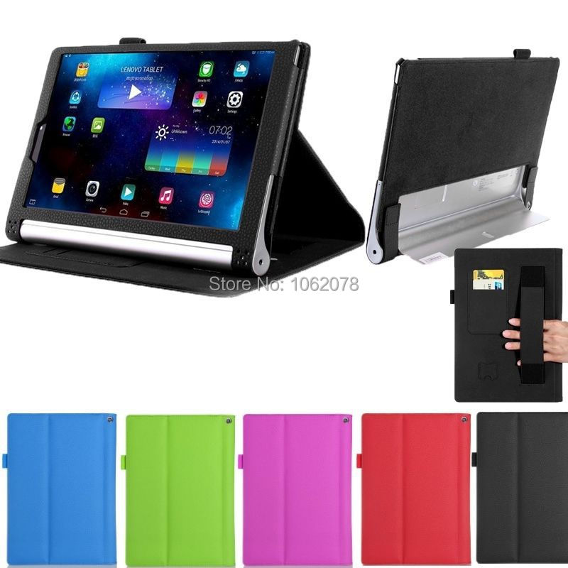 2 in 1 Detachable Standing pu Leather Case For Lenovo Yoga Tablet 2 1050F 10.1 inch Tablet, With Card Slot and Hand Holder