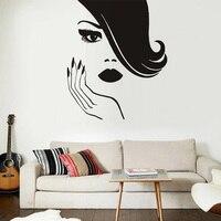 Güzellik Kız Eller Çivi Manikür Duvar Çıkartmaları Vinil Sanat Sticker Kendinden Yapışkanlı Duvar Kağıdı Ev Dekor Oturma Odası
