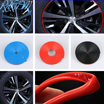 8m Car Wheel Hub Decorative Strip Auto Rim/Tire Protection for Volkswagen VW Jetta MK5 MK6 Polo Scirocco Lavida Eos Bora image