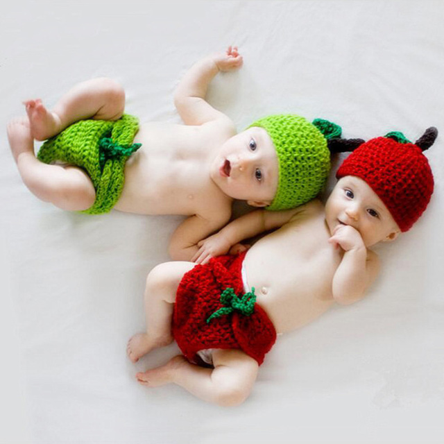 Tiny Baby Boy Girl Cute Photography Crochet Hat+pants Outfits Clothes Newborn Infant Unisex Baby Birthday Photo Shoot Accessoris