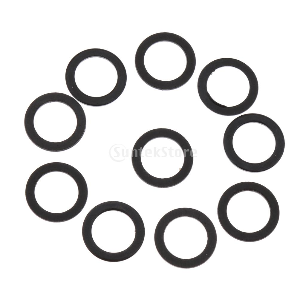 10pcs Black Skateboard Longboard Truck Axle Speed Washer Speed Ring Hardware