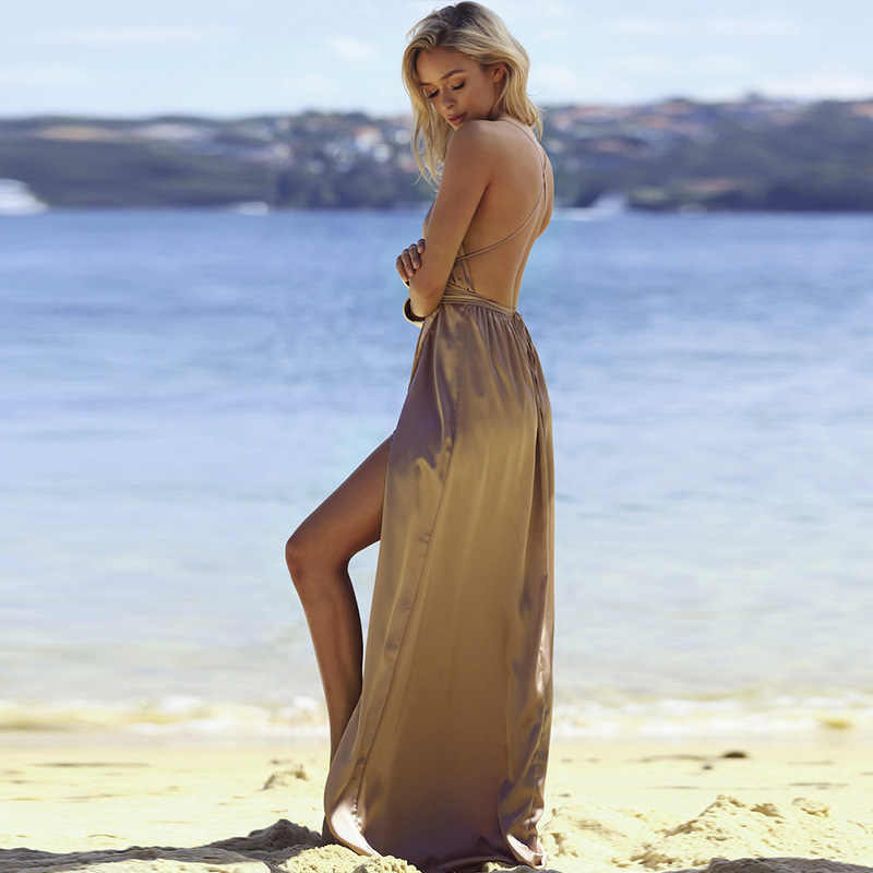 c369c3ba059 ... Long Pencil Red Black Silver Purple Women Dress Slip Off Shoulder  Backless Beach Dress Bodycon Maxi ...