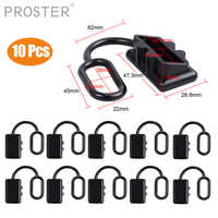 PROSTER 10pcs Dust Cap Cover Lips For 50AMP Anderson Plug Cover Style Connectors 50 amp dual pole battery 50A 120A 175A 600V