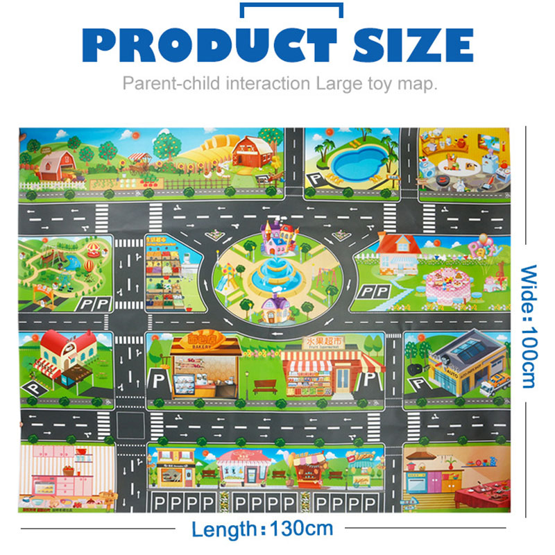 39Pcs City Map Car Toys Model Crawling Mat Game Pad for Children Interactive Play House Toys 39Pcs City Map Car Toys Model Crawling Mat Game Pad for Children Interactive Play House Toys (28Pc Road Sign+10Pc Car+1Pc Map)