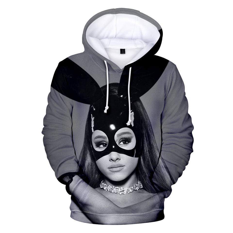 Ariana Grande 3d Hoodies Women/men Hip Hop Casual Hoodie Sweatshirt Women Fashion Tumblr Jacket Coat Spring Fall Tracksuit Tops