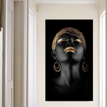 Canvas Painting Wall Art Pictures prints Black woman on canvas no frame home decor Wall poster decoration for living room(China)