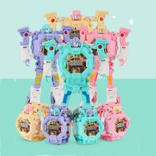 Kids Electronic Watches Deformation Robot Toy 2 in 1 Transfo