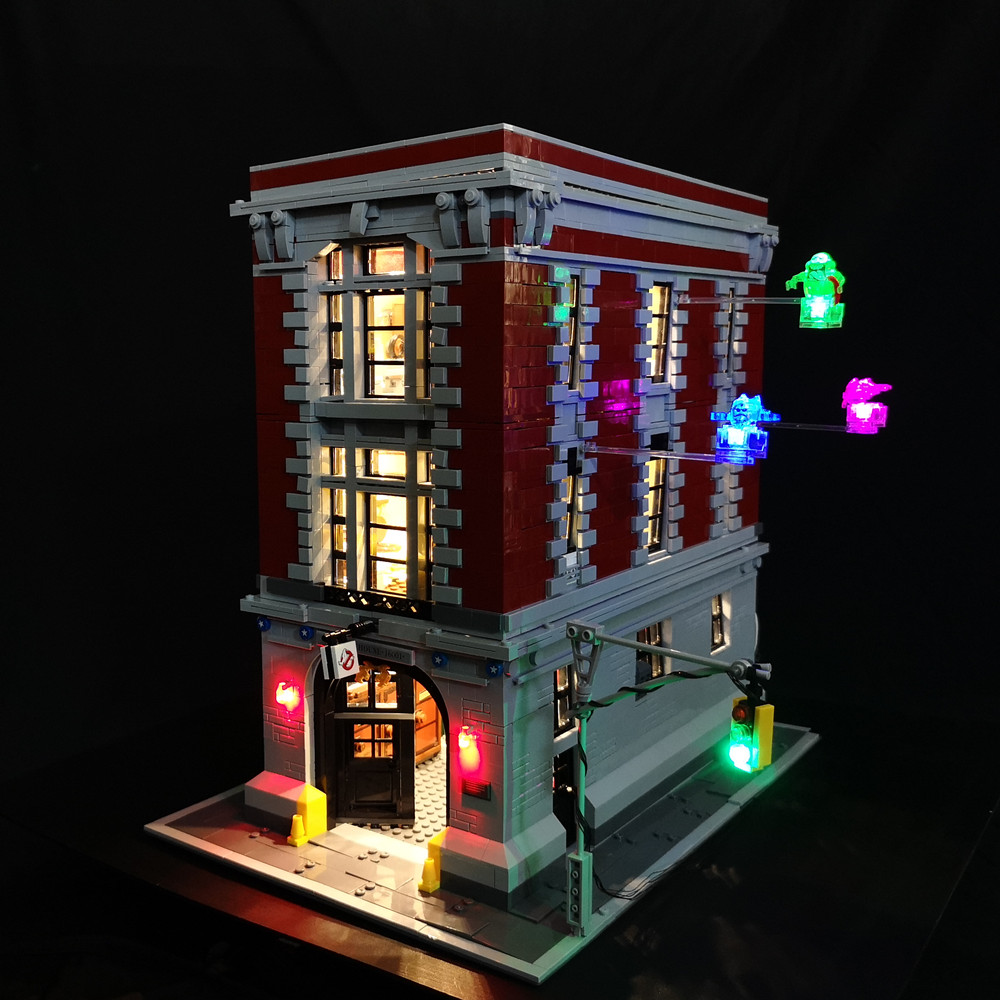 LED light up kit for 75827 and 16001 Ghostbusters Firehouse Headquarters Model Building Kits Model set