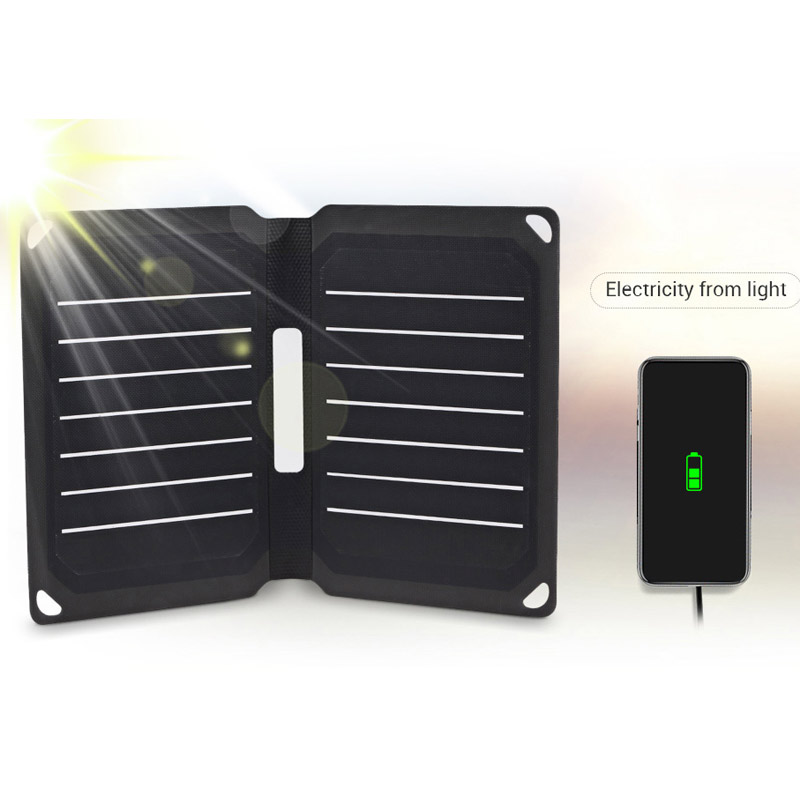 Portable 9W Solar Panel Foldable Water-resistant Mobile Power Bank Solar Panel Charger Power Bank Phone Battery Tool AccessoriesPortable 9W Solar Panel Foldable Water-resistant Mobile Power Bank Solar Panel Charger Power Bank Phone Battery Tool Accessories