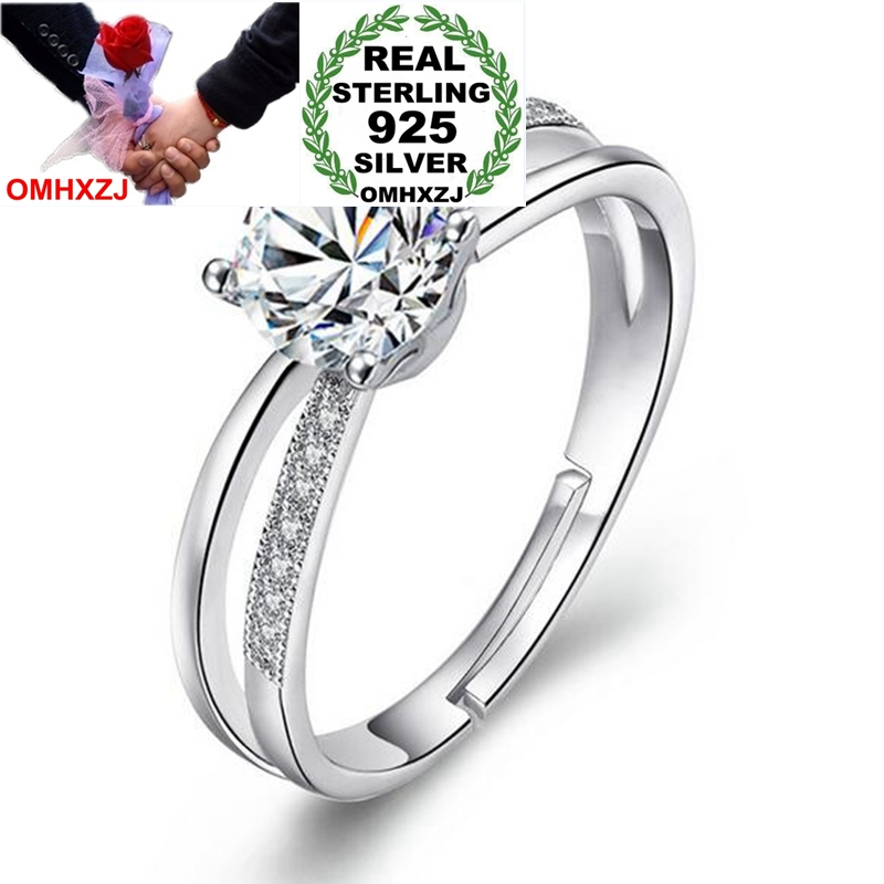 OMHXZJ Wholesale Simple Fashion Trends Intertwined Fate OL Gift 925 Sterling Silver Female For Woman Girl Resizable Ring RG42