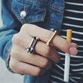 Ferradura retro ouro/prata titanium aço parafuso anéis para homens anéis de chave de fenda preto das mulheres do partido do punk legal homem dedo anéis