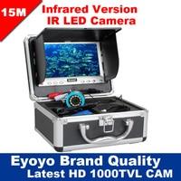 Eyoyo Original 15M 1000TVL Fish Finder Underwater Fishing 7 Video Camera Monitor AntiSunshine Shielf Sunvisor Infrared
