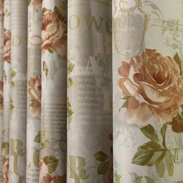 Pastoralen Venedig Blume Drucken Rosen Vorhänge Für Wohnzimmer Fenster  Esszimmer Schlafzimmer Blackout Englisch Vorhang Tüll