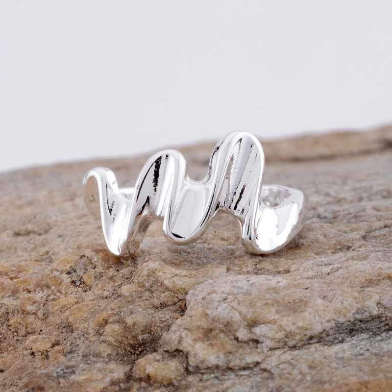 atactic shiny Wholesale silver plated ring 925 Fashion jewelry Silver Ring 925sterling-silver TBDZISJU