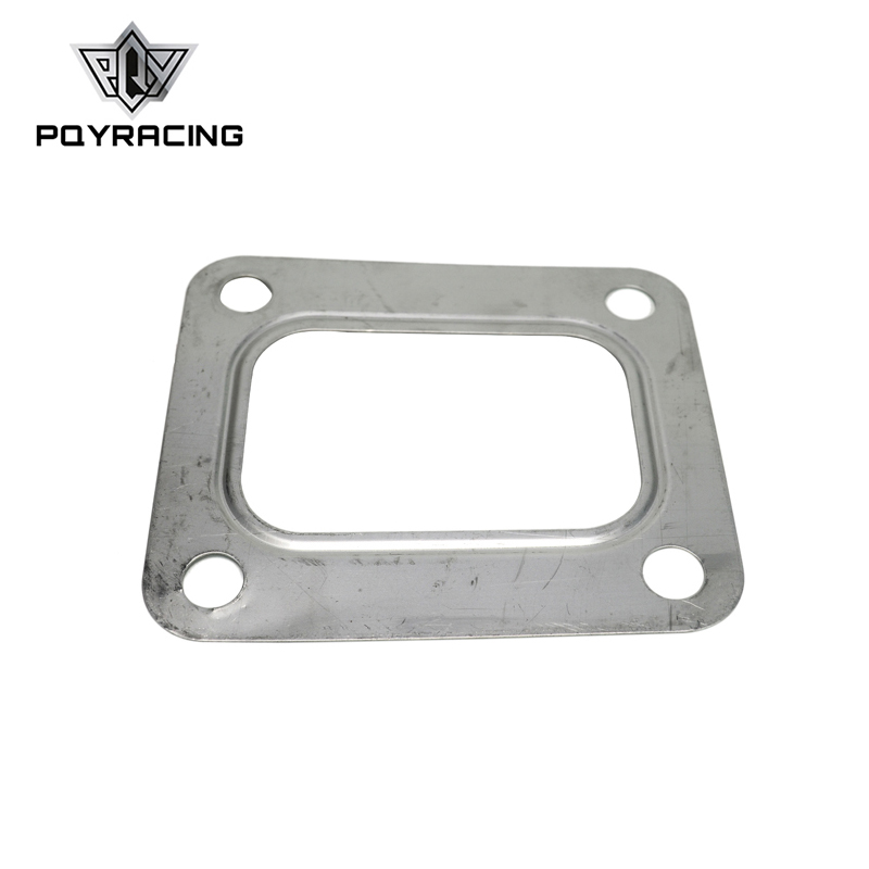 PQY - T04E T66 T70 GT35 GT40 T4 Turbo Turbine Inlet Gasket T4 Flange Gasket 4 Bolt 304 Stainless Steel PQY4807