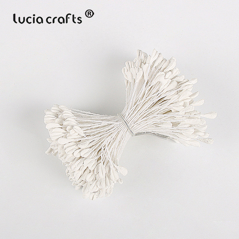 Image 4 - Lucia crafts 330pcs 3mm high quality Matte  double heads flower stamen pistil cake decoration craft DIY C1202-in Artificial & Dried Flowers from Home & Garden