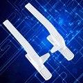 Топ Разработанный 2 ШТ. Белый Универсальный Цинковый Сплав Ручкой Безопасности Плоским открыть двери и оконные ручки Окна Двери Замок Ручки Тянуть KF283