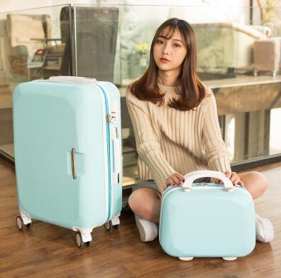 Для женщин комплект дорожных чемоданов тележка чемодан для косметики сумки на колесах колесиках чемодан