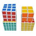 4pcs 2x2x2 3x3x3 4x4x4 5x5x5 Magic Speed Twist Puzzle Cube White for Kids Magic Cubes -17 BM88