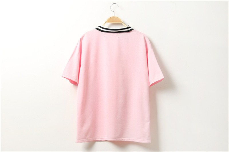 HTB18c1qJFXXXXXnXVXXq6xXFXXXr - Cute Pink Harajuku Printed T Shirt Kawaii Cartoon Tee Tops 2017