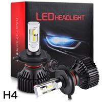 NICECNC 2PCS LED Headlight H4 9003 HB2 Hi Low Beam LED Bulb Lamp For Yamaha FZ1