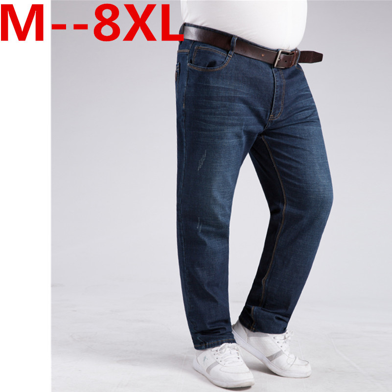 ФОТО Free shipping plus size  8XL 50 52 mens hip hop pants military men cotton pant brand jeans casual  Free postage Jeans large size