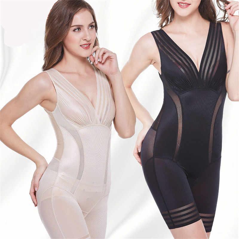 885ef24bf42b4 ... New 2019 Ladies Slimming Bodysuits Shapewear for Women Ultra Thin High  Waist Shaping Panty Deep V ...
