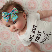 цены Botique Nylon Headband With Fabric Floral Bow Elastic Bebe Hairband Top Knot Print Bow Solid Baby Girls Hair Accessories