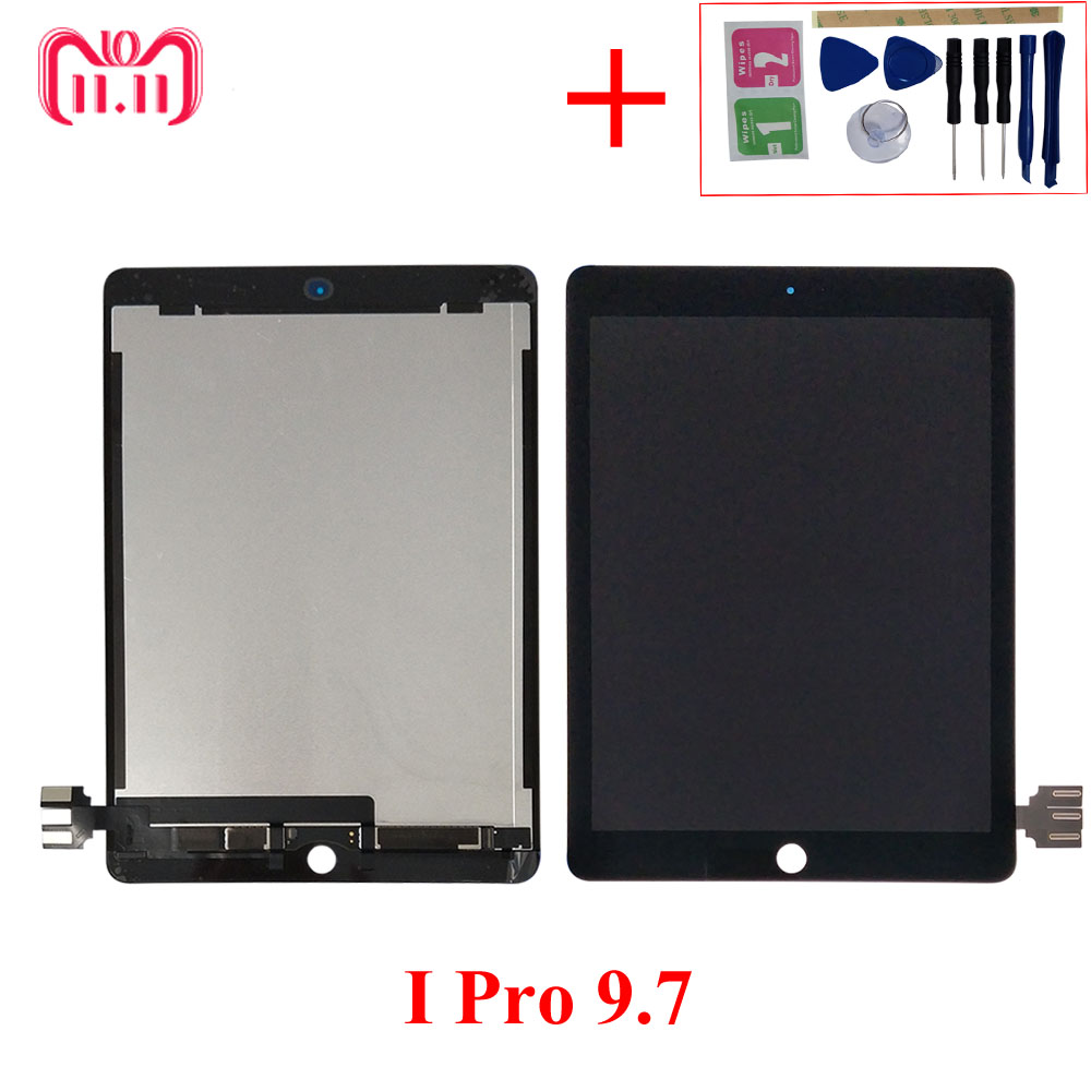 AAA+ LCD For iPad Pro 9.7 A1673 A1674 A1675 LCD Display Matrix Touch Screen Digitizer Tablet PC Assembly Pantalla no Home Button