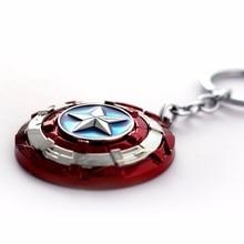 HSIC красный брелок для ключей по мотивам фильма поворот Капитан Америка брелок со щитом для ключей Llavero брелок для ключей держатель Porte модные 11137