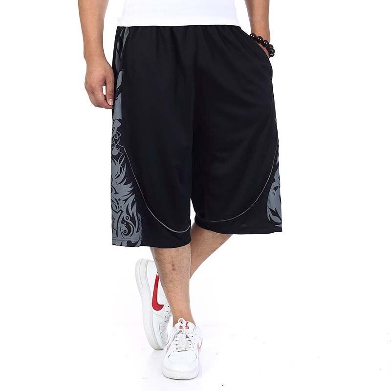Summer Streetwear Men Short Hip Hop Harem Boardshorts American Fashion Loose Baggy Exercise Shorts Elastic Waist Plus Size