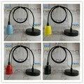 4 cor DIY tomada de cerâmica simples droplight E27 Edison vintage aparelho de iluminação com 1.1 metro de fio de PVC e fios de ferro preto dossel