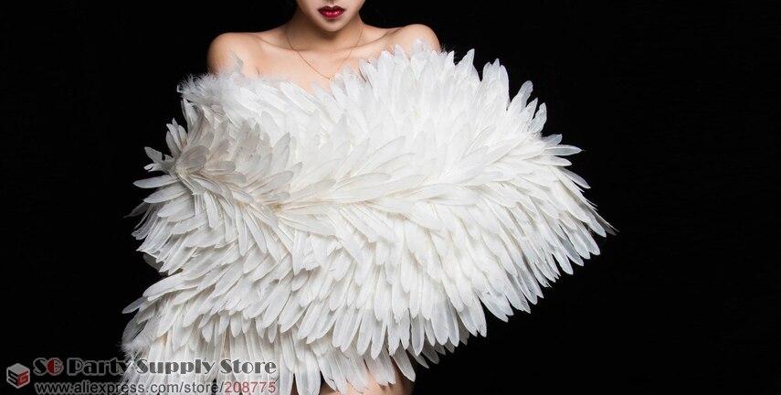 Nieuwe mode zachte grote maat veervleugels show decoratie animatie