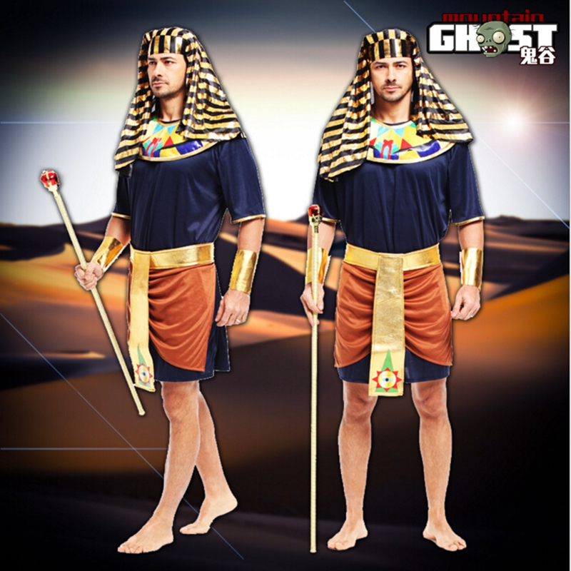 Halloween Costumes For Men Egyptian Pharaoh King Hot Sale Adult Costumes Fancy Dress Costume