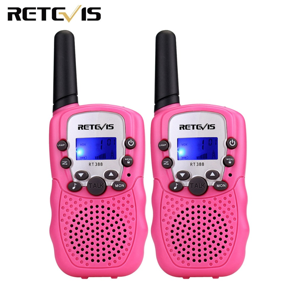 2pcs Kids Radio Walkie Talkie Retevis RT388 UHF 462-467MHz 0.5W UHF Frequency Portable Radio Hf Transceiver A7027F