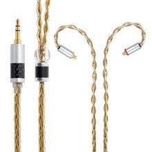 NICEHCK Высокое качество 8 ядро один уровень с украшением в виде кристаллов Медь посеребренный кабель 3,5/2,5/4,4 мм MMCX/2Pin для LZ A7 KXXS TFZ NICEHCK NX7 MK3