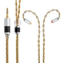 NICEHCK wysokiej jakości 8 rdzeń pojedyncze miedziane z kryształami posrebrzany kabel 3.5/2.5/4.4mm MMCX/2Pin dla LZ A7 KXXS TFZ NICEHCK NX7 MK3