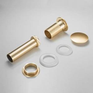 Image 5 - זהב מברשת אמבטיה אגן כיור ניקוז פסולת Pop Up פסולת וניטי כיור כלי ללא & עם הגלישה עתיק ברז אגן ניקוז