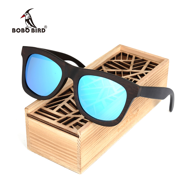 BOBO BIRD New Luxury Men's Sunglasses Wood Casual Polarized Lens Sun Glasses for Men With Wood Gift Box Steampunk Dropshipping