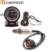 Free shipping CNSPEED 60MM 12V Car Air Fuel Ratio Gauge & Narrowband Oxygen Sensor O2 Rear for 01 06 Hyundai 2.0L Car Meter