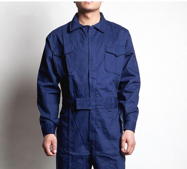 M-4xl Work Siamese Overalls Men's Auto Repair Suit Female Spring And Autumn Work Jumpsuit Long-sleeved Cotton Tooling Coverall 5