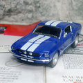 Brand New KINGSMART 1/38 Scale Classical 1967 Ford Shelby GT-500 Diecast Metal Pull Back Car Model Toy For Gift/Kids/Collection