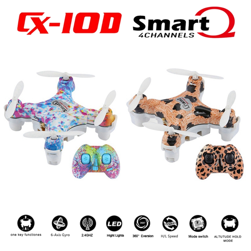 New Model Cheerson CX 10D RC Helicopter Drones With 150mah Battery Mini Drone Quadcopter Toy Remote