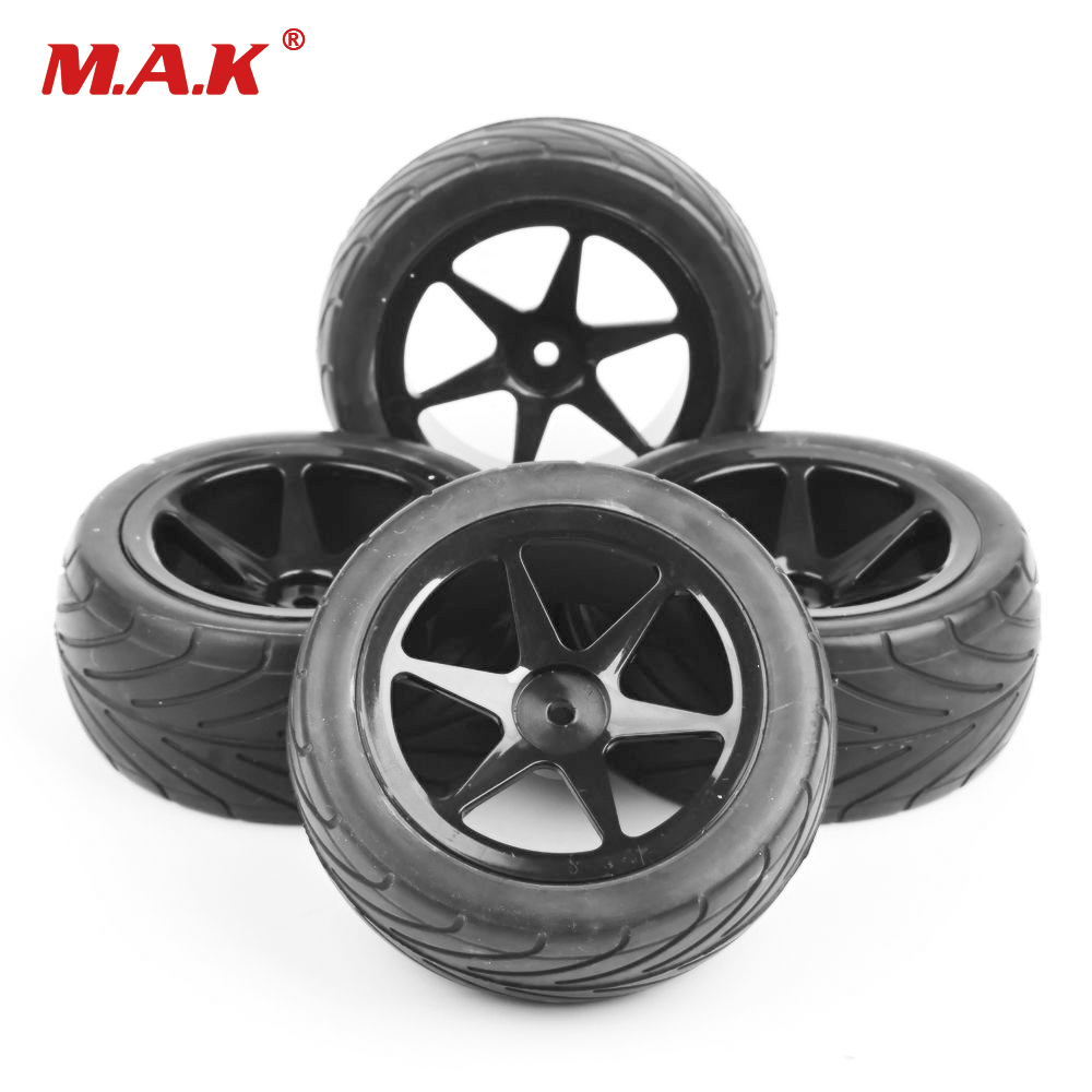 Rc 1/10 Buggy Off-Road Car Tires Front Rear Tyre Wheel Rim Set 12mm Hex for HSP HPI Tyres 2pcs rc car 1 10 hsp 06053 rear lower suspension arm 2p for 1 10 4wd rc car hsp 94155 94166 94177