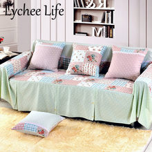 Lychee Life Plaid Dot Print Sofa Flowers Printed Dust Proof Sectional Sofa Covers Modern Simple Style Drawing Room Home Textile(China)