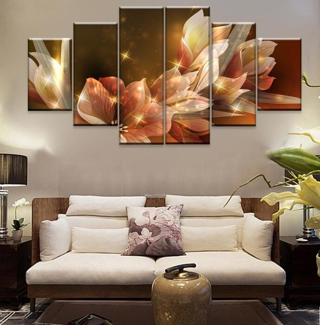 2017 Cuadros Wall Pictures For Living Room Bedroom Cobblestone Magnolia Flower Picture Panel Large Canvas Art