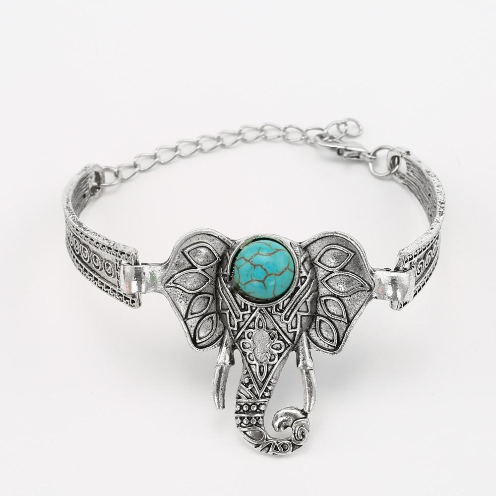 Hot Sale Elephant Armband för kvinnor Vintage armband och armband Bijoux Etniska armband Femme Accessoarer Bracciali Pulseras