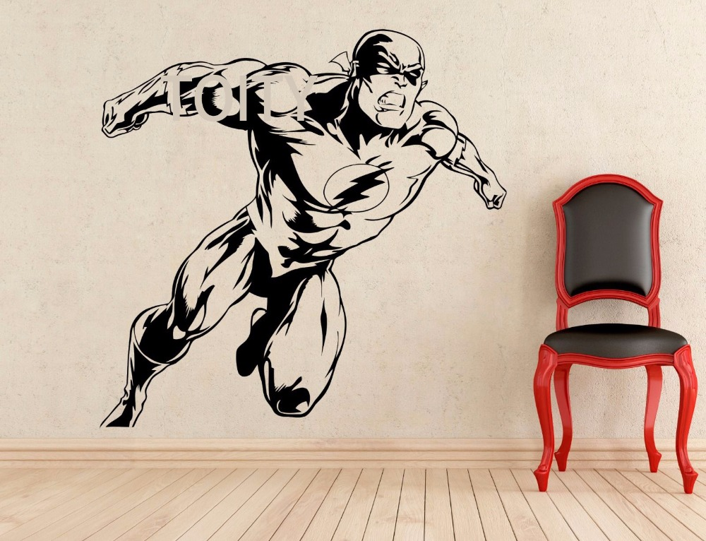 Online Get Cheap Superhero Wall Decals Aliexpresscom Alibaba Group - Superhero vinyl wall decals
