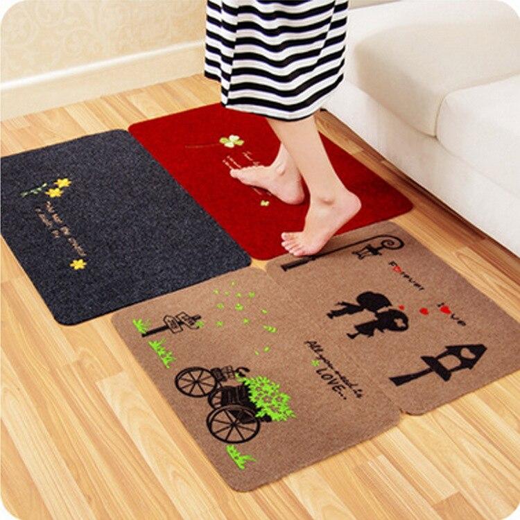 New Pastoral Style Home Carpet Multiple Colour Floor Carpets Rugs For  Bedroom Bathroom Living Room 3D Mats Kitchen Entrance Mat